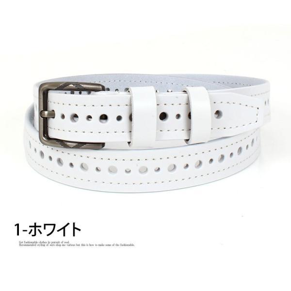 ベルト メンズ パンチングデザインベルト ホールデザイン ネイティブ カジュアル メンズファッション 通販 小物|mostshop|08