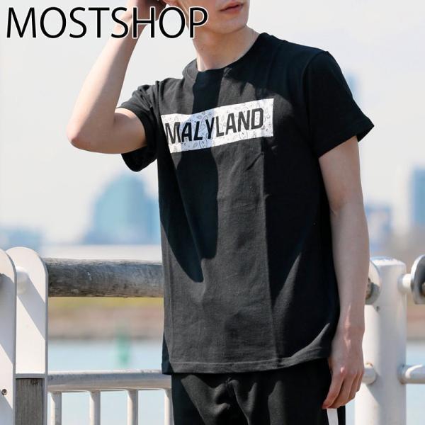 Tシャツ メンズ 半袖 プリントTシャツ クルーネック ティーシャツ ロゴT 文字 アメカジ 春夏 ボックスロゴ トライバル トップス メンズファッション|mostshop