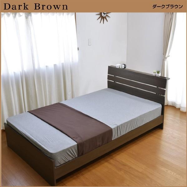 ベッド ベット セミダブル セミダブルベッド ジェリー2(宮棚・コンセント付き)-ART (フレームのみ) すのこベッド ベットのみ ベッド セミダブル フレーム mote-kagu 07