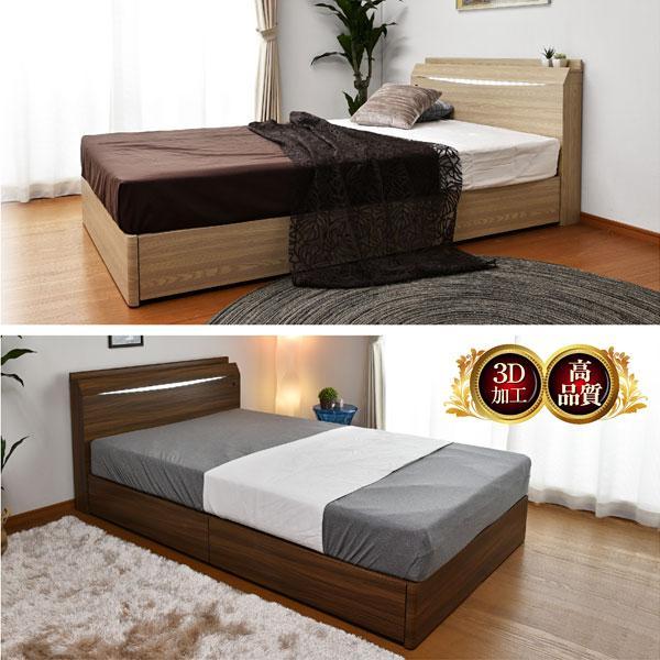 レビューで1年補償 ベッド (収納 収納つき) 宮付き ベット シングルベッド プライドZ(PRIDEZ)/ボンネルコイルマットレス付き-ART 収納ベッド 収納付き LED照明|mote-kagu|06