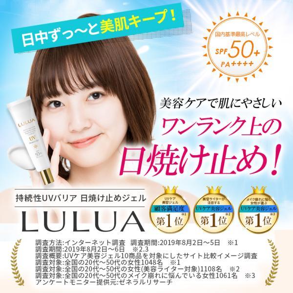 日焼け止め UVケア 美容ジェル 下地 顔 全身 日焼け止めジェル SPF50+ PA++++ LULUA ルルア 界面活性剤フリー motions-shop 02