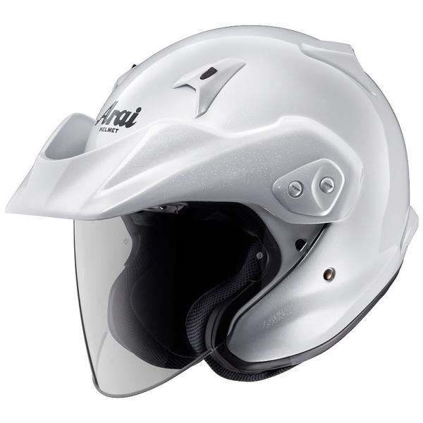 ARAIアライジェットヘルメットCT-Z(シーティーゼット)グラスホワイトXLサイズ61-62cm