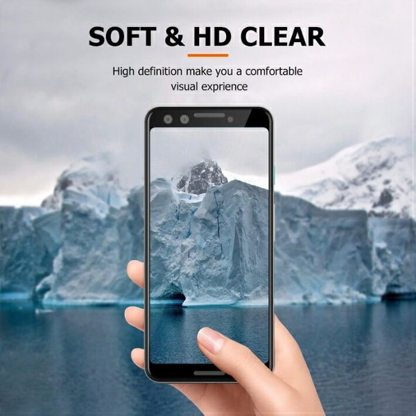 3Dエッジ 強化ガラスフィルム Google 5.5 Pixel 3 6.3 Pixel 3 XL ガード クリア 耐衝撃 保護フィルム 透明 ブラック|moto84|15