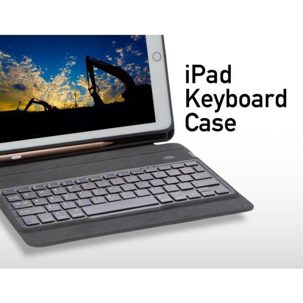 iPad キーボードカバー キーボードケース 英語配列(54キー)9.7インチ 2018 第6世代 2017 第5世代 英語配列 USキーボード Bluetooth 3.0|moto84|03