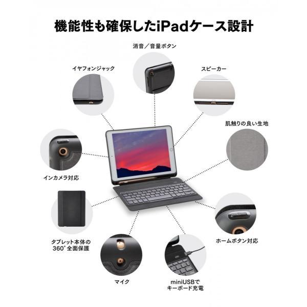 iPad キーボードカバー キーボードケース 英語配列(54キー)9.7インチ 2018 第6世代 2017 第5世代 英語配列 USキーボード Bluetooth 3.0|moto84|08