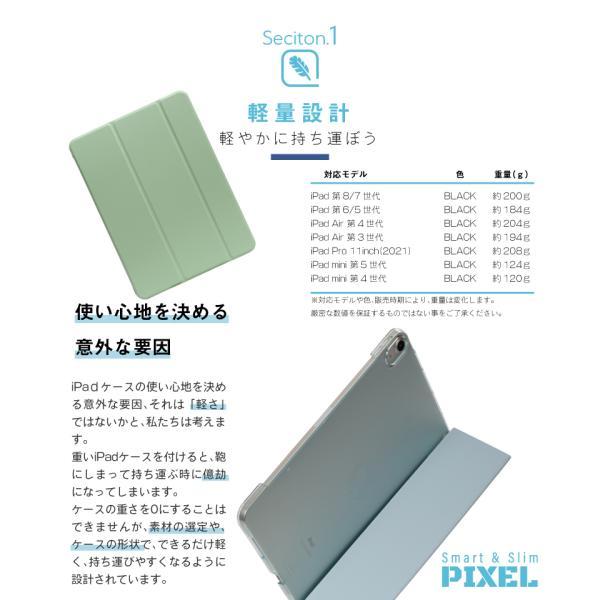 iPad ケース 強化ガラスフィルムセット PIXEL mini5 2019 2018 2017 iPad5 iPad6 Pro 9.7 Pro 10.5 pro11 mini 4 Air Air 2 Air3 第6世代 第5世代|moto84|11