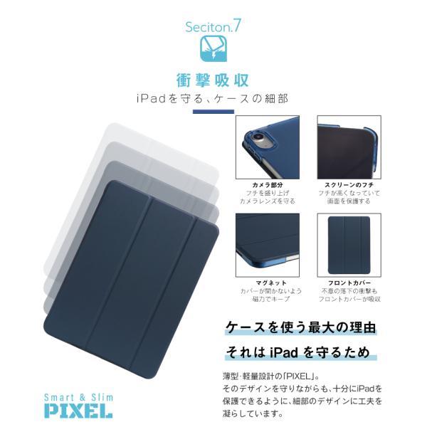 iPad ケース 強化ガラスフィルムセット PIXEL mini5 2019 2018 2017 iPad5 iPad6 Pro 9.7 Pro 10.5 pro11 mini 4 Air Air 2 Air3 第6世代 第5世代|moto84|18
