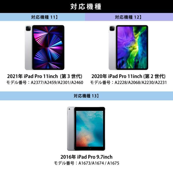iPad ケース 強化ガラスフィルムセット PIXEL mini5 2019 2018 2017 iPad5 iPad6 Pro 9.7 Pro 10.5 pro11 mini 4 Air Air 2 Air3 第6世代 第5世代|moto84|06