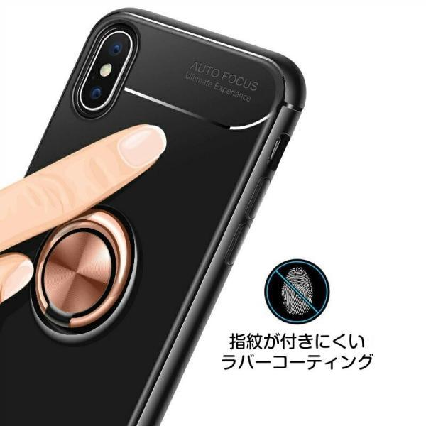 リング付きiPhoneケース スタンドにもなる iPhone XS XS MAX XR 7 8 7Plus 8Plus ケース TPUソフトケース カバー 回転リング スタイリッシュ|moto84|08