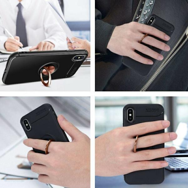 リング付きiPhoneケース スタンドにもなる iPhone XS XS MAX XR 7 8 7Plus 8Plus ケース TPUソフトケース カバー 回転リング スタイリッシュ|moto84|10