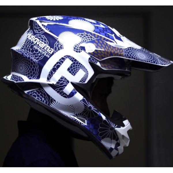 ショウエイ VFX-W アライ V-CROOS4 和柄 オフロードヘルメットデカール|motocrusader|03