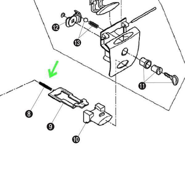 デイトナ DAYTONA 90149 GIVI Z191 モノロックケース E20N/E230/E26N・X/E300/E30TN/E33/E340/E370/E42NS/E450/E470補修用プッシュボタンスプリング