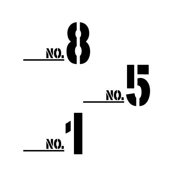 切り文字ステッカー  0〜9 色&数字変更OK    TYPE - NO.2  M/10cm   カッティングシート・シール・デカール|motologo|02