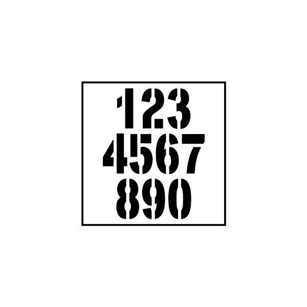 切り文字ステッカー  0〜9 色&数字変更OK    TYPE - NO.2  M/10cm   カッティングシート・シール・デカール|motologo|04