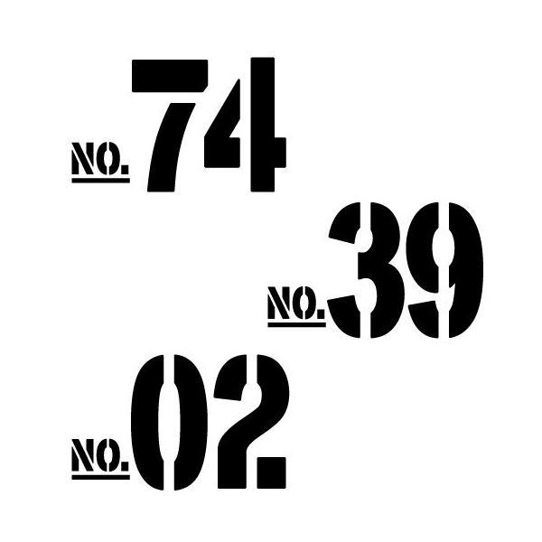 切り文字ステッカー  00〜49 色&数字変更OK    TYPE - NO.02  M/10cm  カッティングシート・シール・デカール|motologo|04