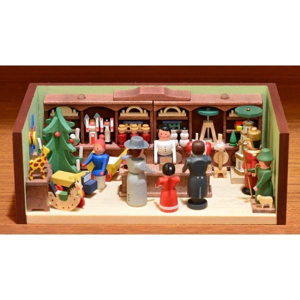 ドイツ木工芸品 ミニチュアの部屋 おもちゃ屋 玩具|motomachi-takenaka