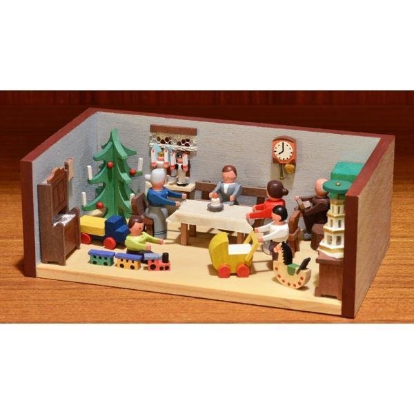 ドイツ木工芸品 ミニチュアの部屋 クリスマス パーティ|motomachi-takenaka|02
