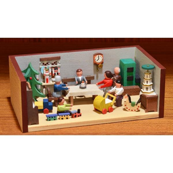 ドイツ木工芸品 ミニチュアの部屋 クリスマス パーティ|motomachi-takenaka|03