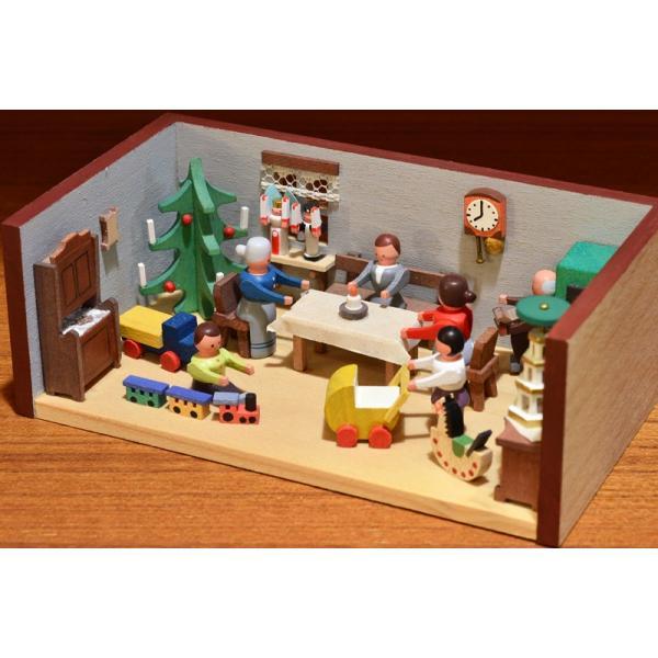 ドイツ木工芸品 ミニチュアの部屋 クリスマス パーティ|motomachi-takenaka|04