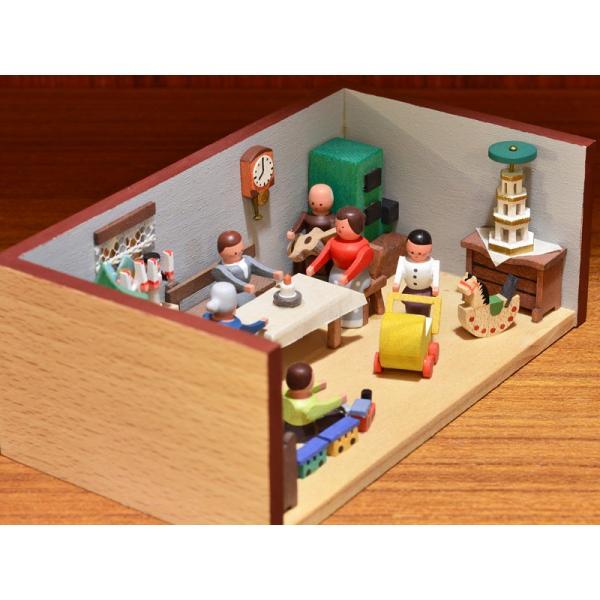 ドイツ木工芸品 ミニチュアの部屋 クリスマス パーティ|motomachi-takenaka|05