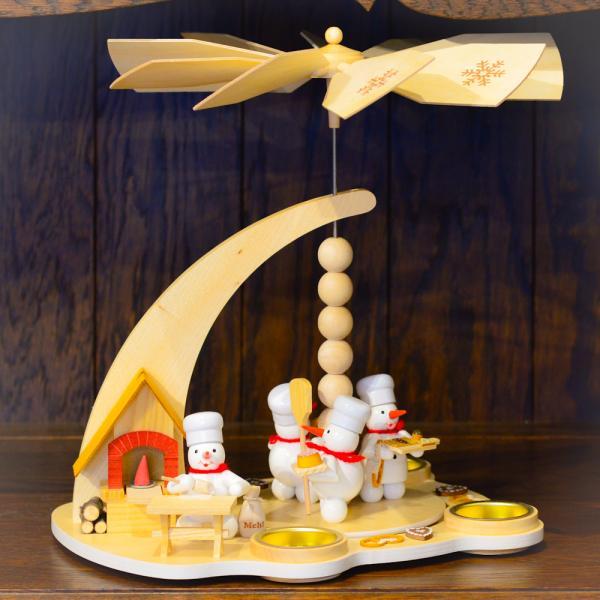 ドイツ木工芸品 ウィンドミル スノーマンベーカリー パン屋さん|motomachi-takenaka