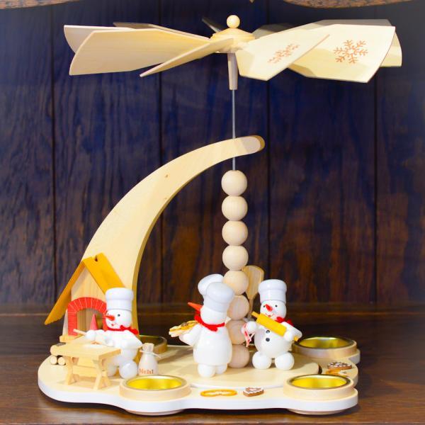 ドイツ木工芸品 ウィンドミル スノーマンベーカリー パン屋さん|motomachi-takenaka|03