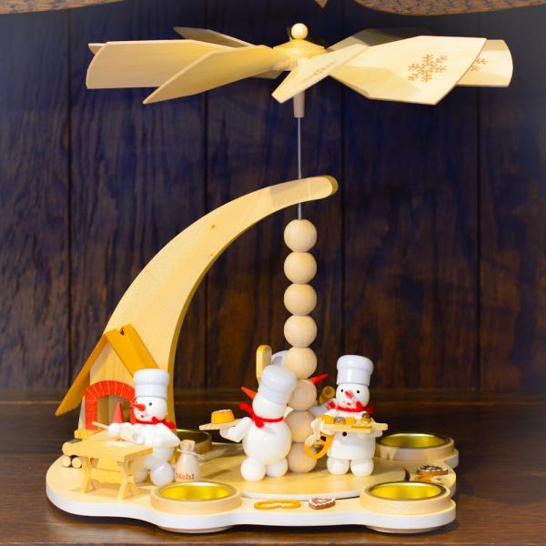 ドイツ木工芸品 ウィンドミル スノーマンベーカリー パン屋さん|motomachi-takenaka|04