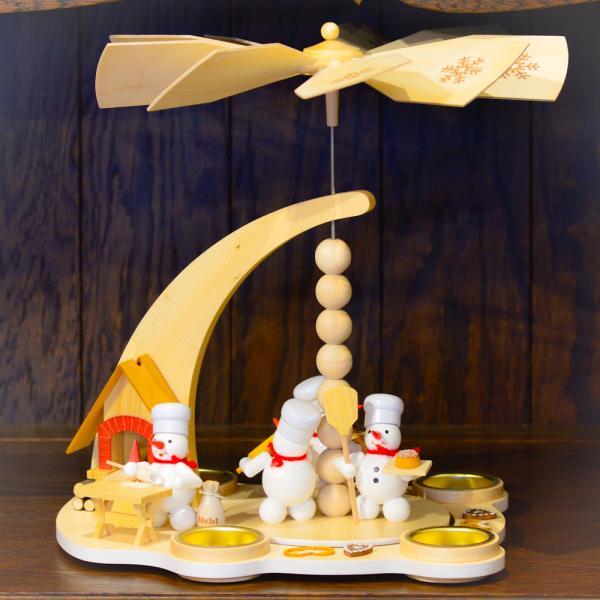 ドイツ木工芸品 ウィンドミル スノーマンベーカリー パン屋さん|motomachi-takenaka|05