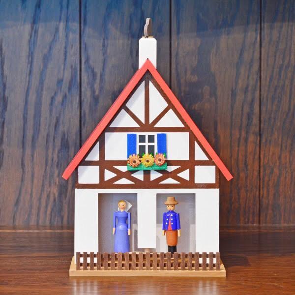 ドイツ木工芸品 天気予報の家 木組の家 赤い屋根|motomachi-takenaka
