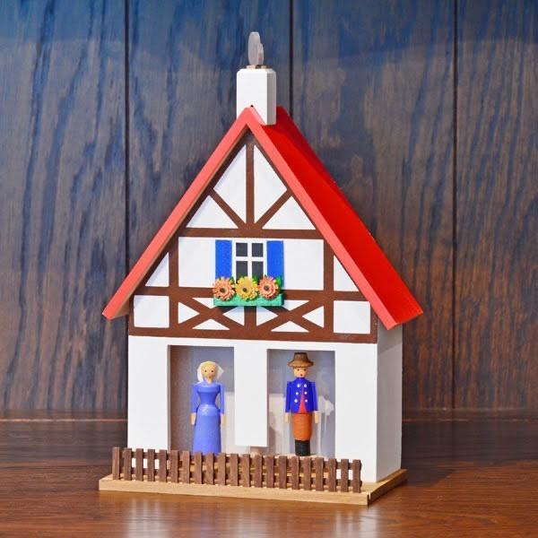 ドイツ木工芸品 天気予報の家 木組の家 赤い屋根|motomachi-takenaka|02