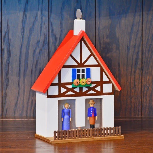 ドイツ木工芸品 天気予報の家 木組の家 赤い屋根|motomachi-takenaka|03