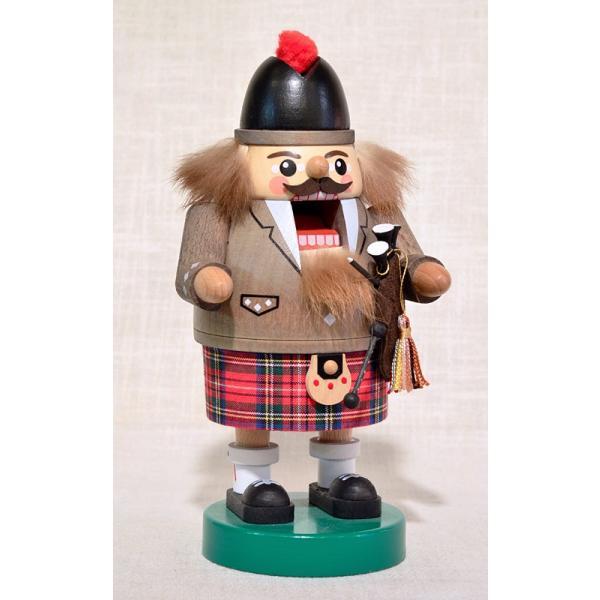 ドイツ木工芸品 ナッツクラッカー くるみ割り人形 スコットランド人 バグパイプ|motomachi-takenaka