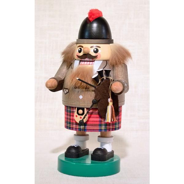 ドイツ木工芸品 ナッツクラッカー くるみ割り人形 スコットランド人 バグパイプ|motomachi-takenaka|02