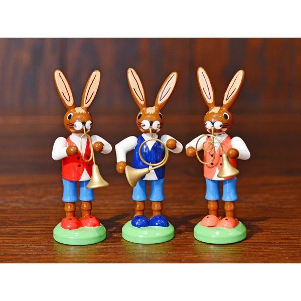 ドイツ木工芸品 ウサギの楽団 ウサギのバンド|motomachi-takenaka
