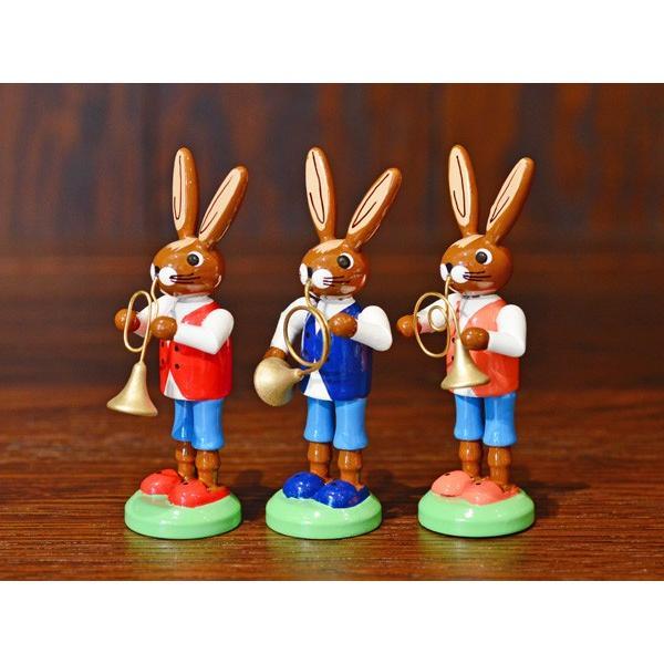 ドイツ木工芸品 ウサギの楽団 ウサギのバンド|motomachi-takenaka|02