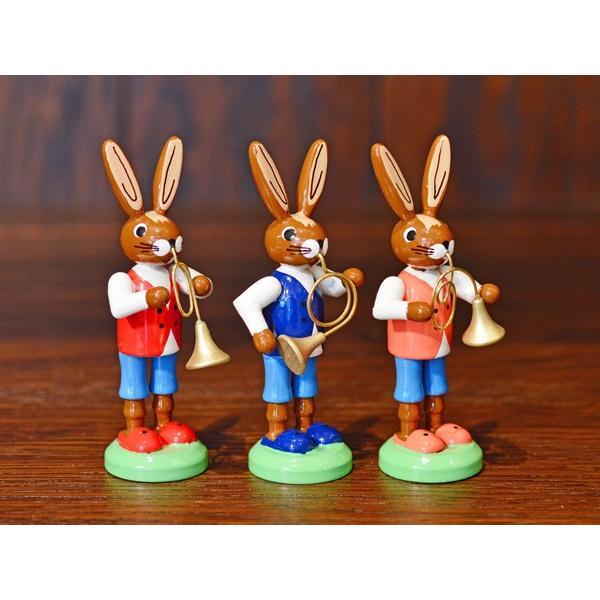 ドイツ木工芸品 ウサギの楽団 ウサギのバンド|motomachi-takenaka|03