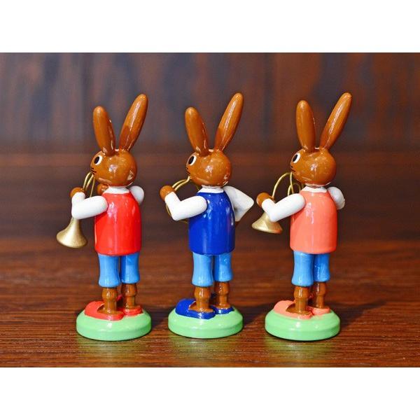 ドイツ木工芸品 ウサギの楽団 ウサギのバンド|motomachi-takenaka|04