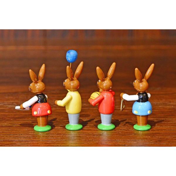 ドイツ木工芸品 イースターを楽しむウサギの子供達 イースター|motomachi-takenaka|04