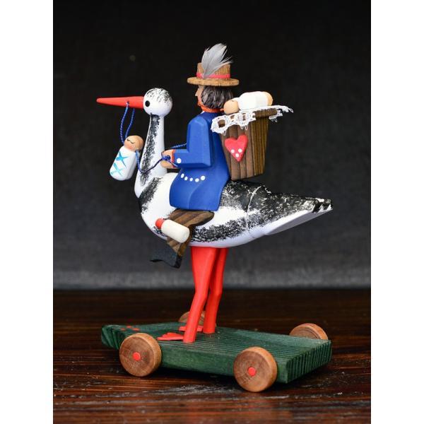 ドイツ木工芸品 コウノトリに乗る使者|motomachi-takenaka|05