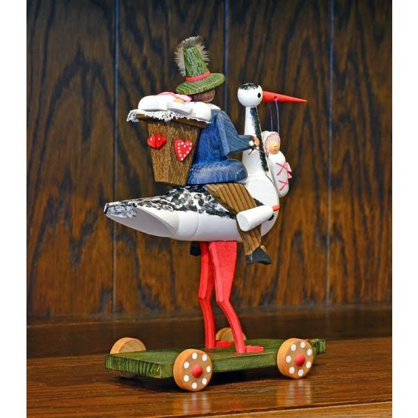 ドイツ木工芸品 コウノトリに乗る使者 大|motomachi-takenaka|04