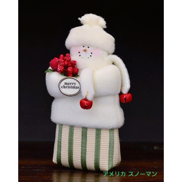 アメリカ スノーマン 赤い実 ベル クリスマス|motomachi-takenaka