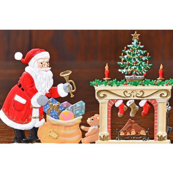 ドイツ錫(すず)飾り・サンタクロース 暖炉 プレゼント ツリー|motomachi-takenaka|02