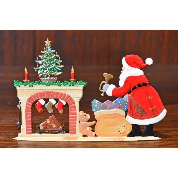 ドイツ錫(すず)飾り・サンタクロース 暖炉 プレゼント ツリー|motomachi-takenaka|03