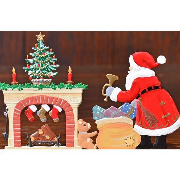ドイツ錫(すず)飾り・サンタクロース 暖炉 プレゼント ツリー|motomachi-takenaka|04
