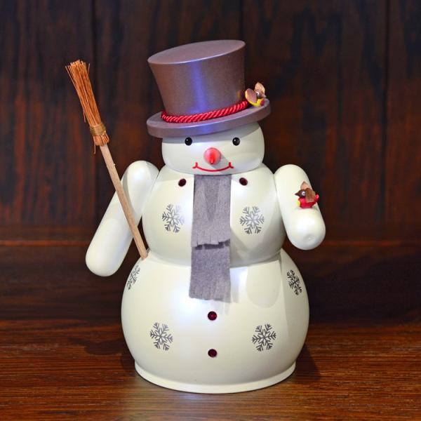 ドイツ木工芸品 ナッツクラッカー くるみ割り人形 スノーマン 雪だるま|motomachi-takenaka