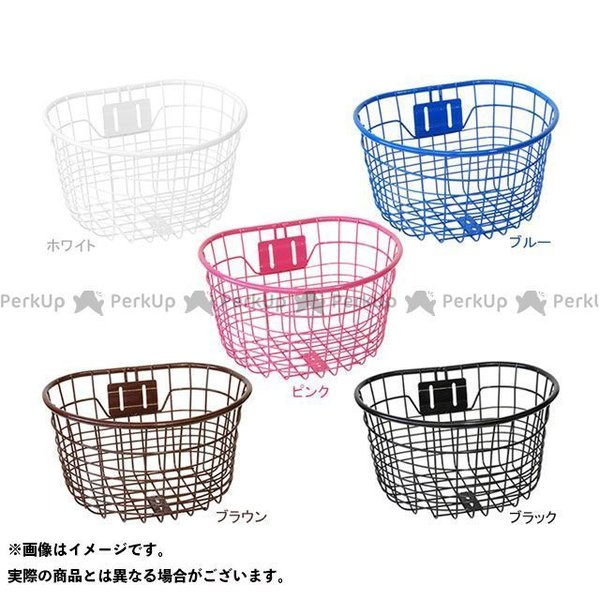 【無料雑誌付き】PALMY(自転車) GKO-902 児童用オシャレ丸型ワイヤーバスケット カラー:ブラック PALMY