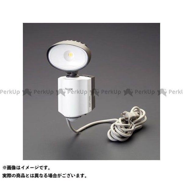 【雑誌付き】エスコ AC100V/14W LED人感センサーライト(防雨型) ESCO