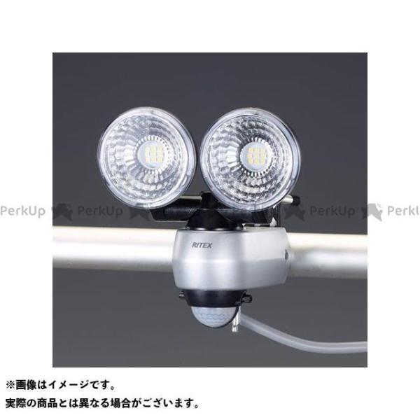【雑誌付き】エスコ AC100V/7.5Wx2 LEDセンサーライト メーカー在庫あり ESCO