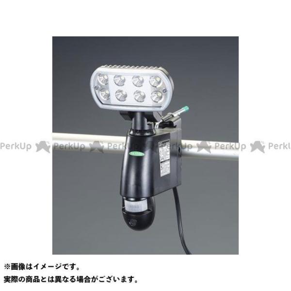 【雑誌付き】エスコ AC100V LEDセンサーライト(60Hz/カメラ付) ESCO