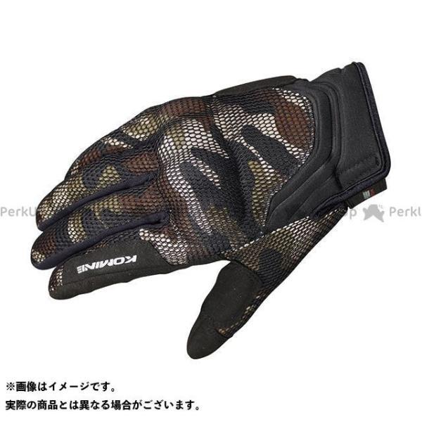 【無料雑誌付き】コミネ GK-194 プロテクト3Dメッシュグローブ-ドウジ カラー:3D ブラウンカモ サイズ:XL KOMINE